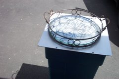 """14"""" DIAMETER METAL & GLASS TABLE TRAY in Naperville, Illinois"""