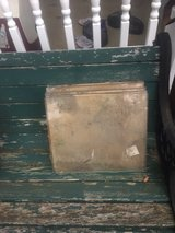 lot of vintage panels of glass in wood crates in Joliet, Illinois