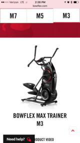 Bowflex max trainer m3 in Beaufort, South Carolina