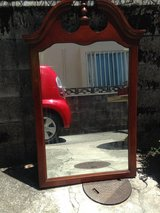 Hall mirror with solid wood frame in Okinawa, Japan