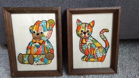 Vintage needlepoint pictures in Orland Park, Illinois