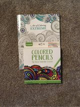 Adult coloring book and 50 unused colored pencils in St. Charles, Illinois
