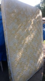 Full size mattress boxspring and frame in Fort Riley, Kansas