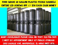 Food Grade Plastic Rain/ Storage Barrels in Glendale Heights, Illinois