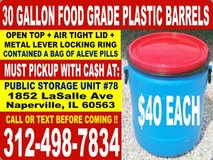 Rain Water Barrel, Plastic Barrels, and Storage Drum/ Drums in Naperville, Illinois
