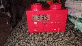 Lego alarm clock radio red in Yorkville, Illinois