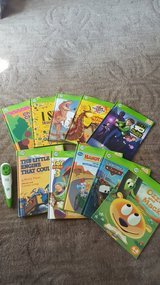 leap frog tag reader and 10 books in Oswego, Illinois