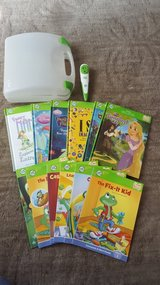 leap frog tag reader 12 books and case in Aurora, Illinois