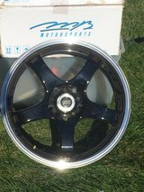 """17"""" Rims (4) Black w/Silver Trim  - Only Used 1 Summer in Algonquin, Illinois"""