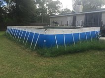 FOR SALE . SPLASH Super Pool 17 FT .x 30 FT X 4 FT .  COMES WITH ; LATTER , 2 HIGH PROFORMANCE P... in Conroe, Texas