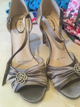 Silver fancy heels in Lakenheath, UK