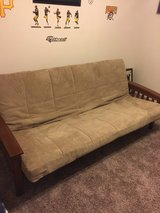very nice futon bed wood metal food condition in Fort Bragg, North Carolina