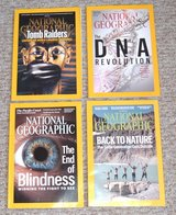 4 Issues of National Geographic Magazine in Yorkville, Illinois