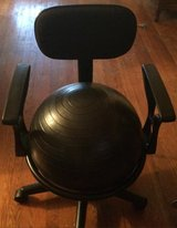 Health and Fitness Arm rest balance ball chair with ball in Leesville, Louisiana
