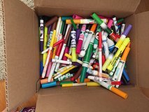 Box of markers in Naperville, Illinois