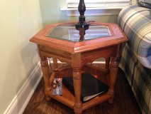 End Table with glass insert in Warner Robins, Georgia
