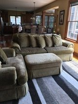 Basset couch, double seater and ottomon in Naperville, Illinois