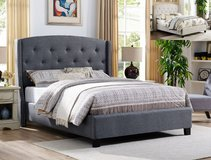 SALE! 30-50% OFF! ALL MUST GO!  QUEEN UPSCALE TUFTED LINEN BEDFRAME in Camp Pendleton, California