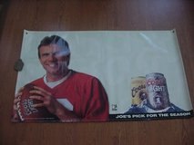 JOE MONTANA S. F. 49er COORS BANNER SIZE 3 FOOT by 6 FOOT VINTAGE RARE in Lake Elsinore, California