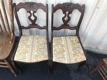Antique Mahogany Rose back Chairs in Cherry Point, North Carolina