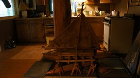 Hand-made Wooden Ship in Alamogordo, New Mexico