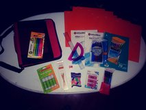 Binder with school supplies in Spring, Texas