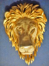 Lion Head Pendant  Neckless gold plated colored by Razza in Lake Elsinore, California