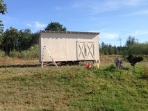 HUGE Chicken trailer with storage!!! Plus electrical chicken fence!!! in Fort Lewis, Washington