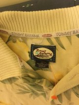 VINTAGE TOMMY BAHAMA POLO SHIRT SIXE XL?  yellow/green used in Okinawa, Japan