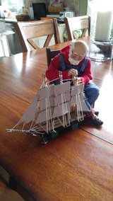 Possible Dreams Santa building boat 2 peice set in Aurora, Illinois