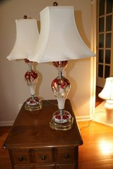 PAIR OF VINTAGE ART GLASS LAMPS.EXCELLENT CONDITION. BEAUTIFUL. MUST SEE. in Elgin, Illinois