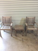 Hardwood Patio Chairs w/ Table in Travis AFB, California