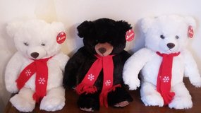 NWT - Soft Plush Holiday Bears (3) in Naperville, Illinois