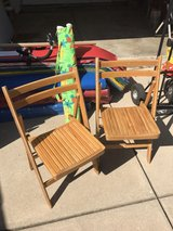 two folding chairs in Naperville, Illinois