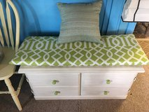 """Nice bench with cushion and pellow 39""""long 17""""wide 19""""tall in Cleveland, Texas"""