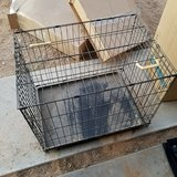 Dog kennel crate in Yucca Valley, California