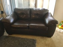 Leather couch in Travis AFB, California