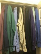 Women's XL Solid Scrub Jackets (10) in Travis AFB, California