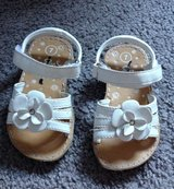 Flower White Velcro Sandals Shoes size 7 in Clarksville, Tennessee