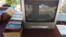 Old School Television with DVDs in Tacoma, Washington