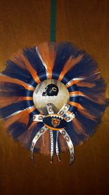 Chicago Bears football handmade tulle wreath in Yorkville, Illinois