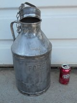 """Antique 2 Gal. Milk Can """"FOREMOST"""" DAIRY in Travis AFB, California"""