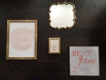 Decorative pictures and mirror set in West Orange, New Jersey