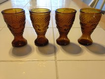 Small Amber glasses set of 4 in Perry, Georgia