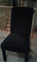 Home Decor- --Dining room/  DESK / OFFICE CHAIR,  BLACK Fabric in Naperville, Illinois