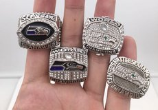 SEATTLE SEAHAWKS CHAMPIONSHIP REPLICA RINGS (4 different designs) *** NEW *** in Tacoma, Washington