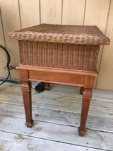 Wicker And Wood End Table in Plainfield, Illinois