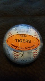 1984 Detroit Tigers World Series champions autographed baseball in Fort Carson, Colorado