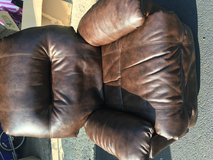 Brown leather recliner chair in Naperville, Illinois