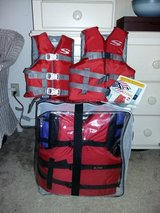 4 Adult Life Jackets in Beaufort, South Carolina